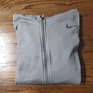NIKE therma fit zip hoodie,  men's medium,  grey